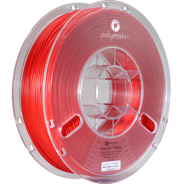 PolyMaker PolyFlex 95A True Red in 1,75mm 750g
